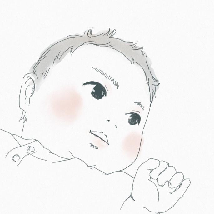 写真を参考にシンプルな似顔絵アイコンを描きます 親しい方へのプレゼントにもオススメ!