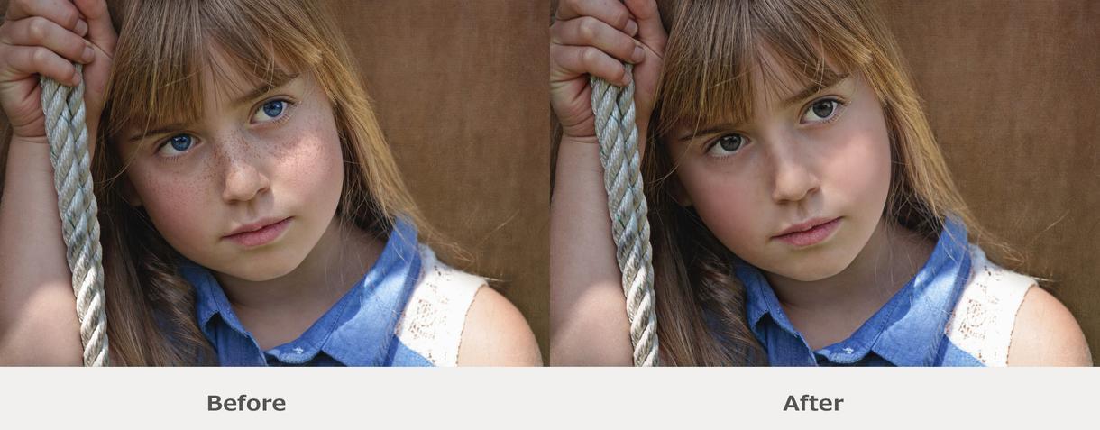 写真の顔を小顔に!美しく!理想の顔に近づけます 輪郭、肌の色合い、鼻の高さなどの補正で理想の顔をどうぞ