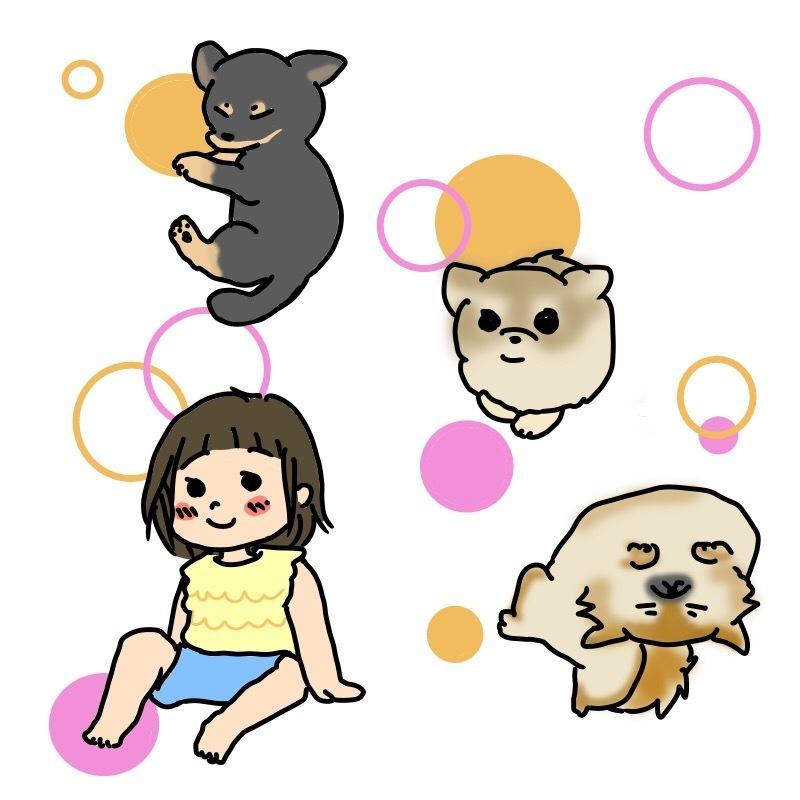 あなたのペットをキャラクター風のイラストにします 可愛い家族のイラスト★水彩画風にもできます★