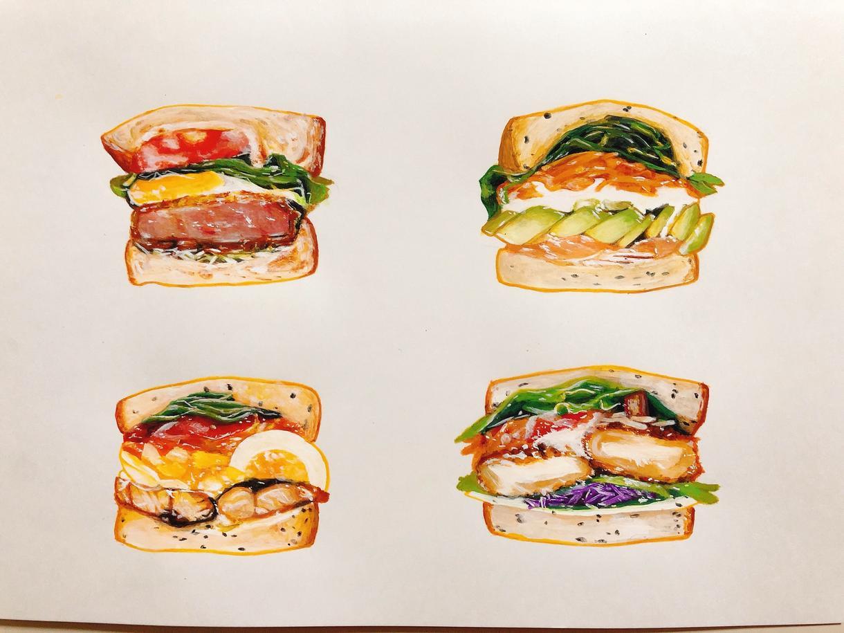 食べ物や似顔絵、さし絵を描きます メニューや似顔絵などを暖かみのある絵で描かせていただきます