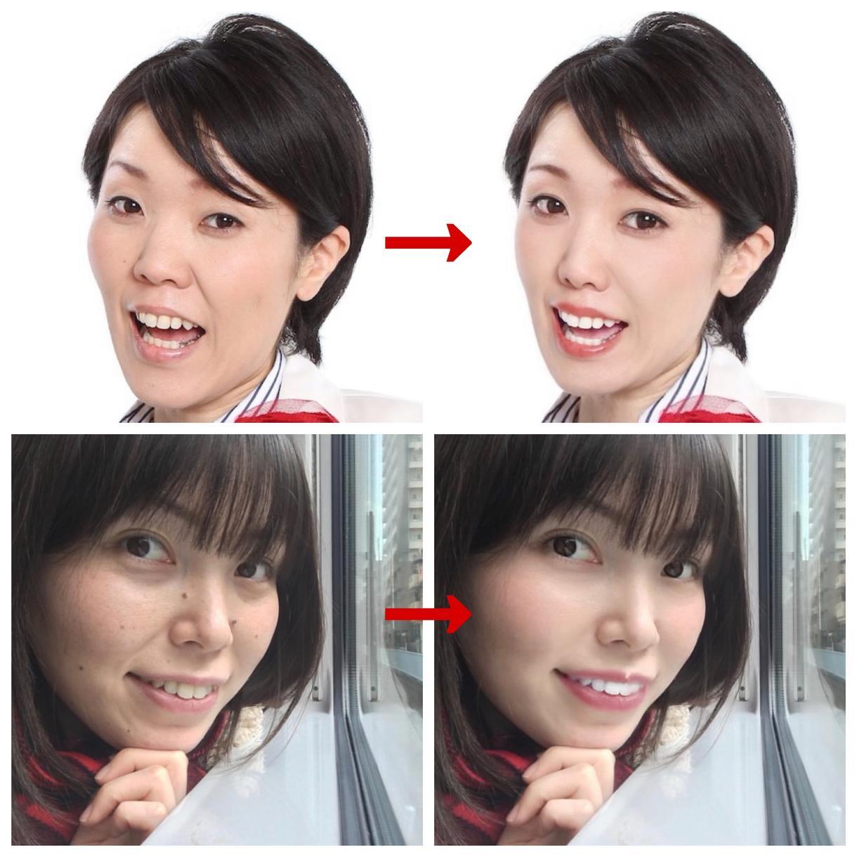 お顔の修正致します。ウェディング動画もお受けします 自然に綺麗を引き出します✨SNSにもあげちゃいましょう♪ イメージ1