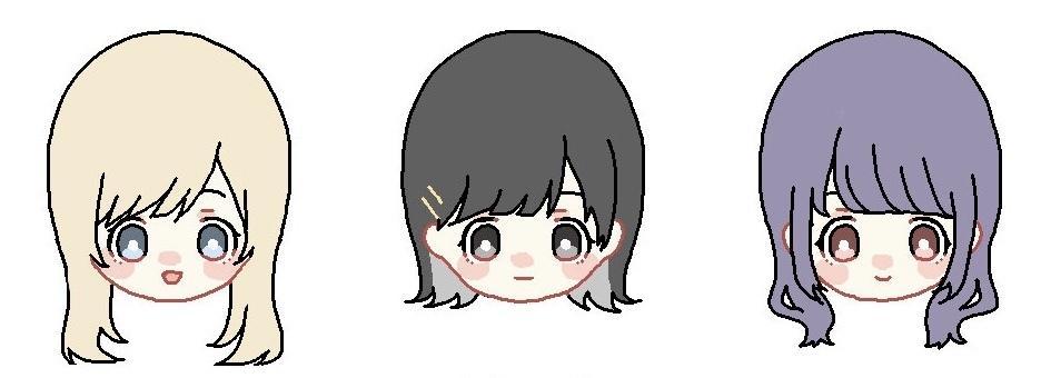 SNS向けアイコンイラスト作成いたします カワイイ系絵柄の女の子イラストです!