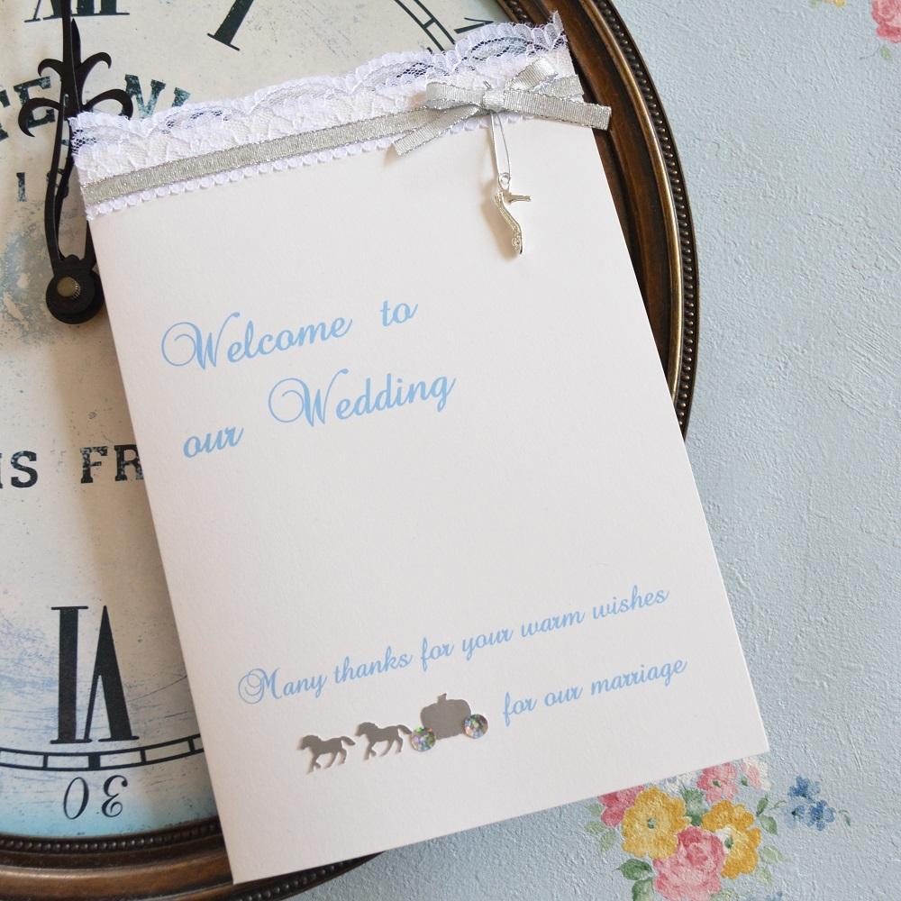 印象的なプリンセスの結婚式席次表・メニュー作ります 2005年から選ばれ続ける立体ペーパーアイテム。