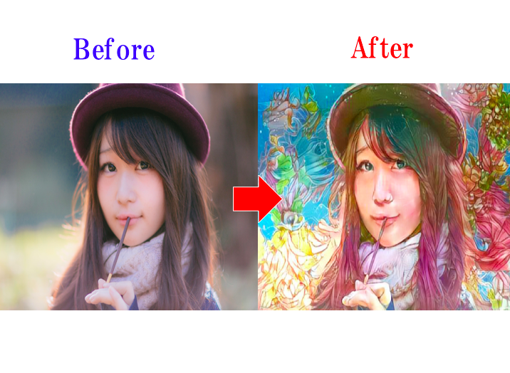 デジタルアートで似顔絵を作成します あなたの写真を美しいデジタルアート画像として編集します!