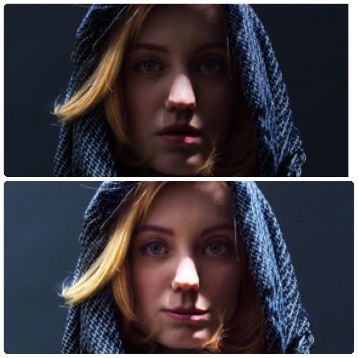 人物の顔写真加工します photoshopを使用し加工します