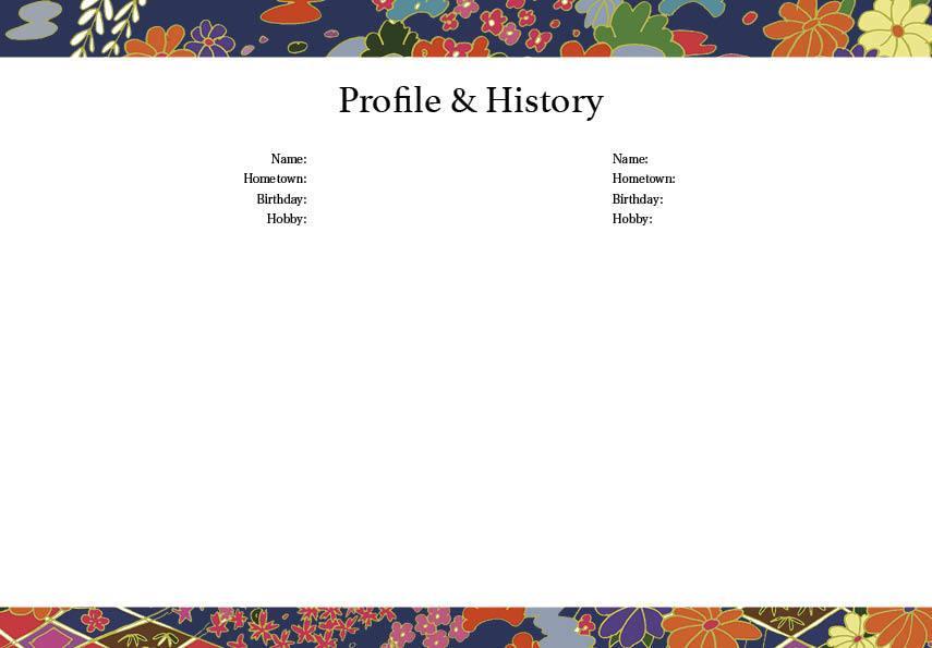 世界に一つのオリジナルウェディングブック製作します お二人だけの記念に残るプロフィールブックをつくりたいあなたに