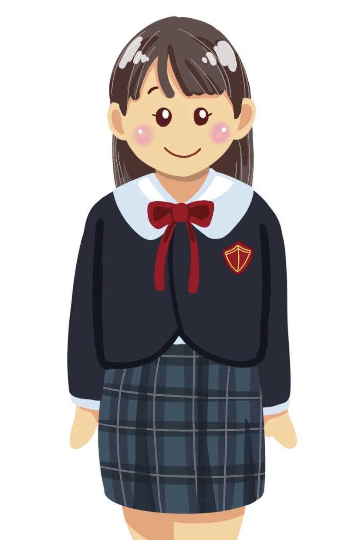お子様の幼稚園の制服でイラストを描きます お子様の通われている幼稚園、保育園等の制服で描きます。
