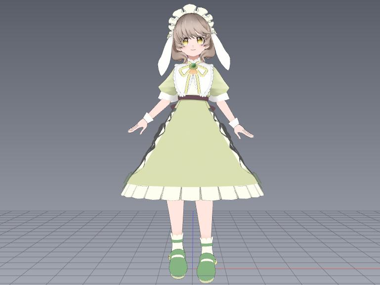 オリジナルの3Dモデルを作製いたします VtuberやVRchat、MMDで使える3Dモデルを作製 イメージ1