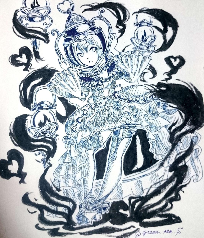 童話調の白黒絵描きます 細かな描き込みで重厚さと温かみのある絵です
