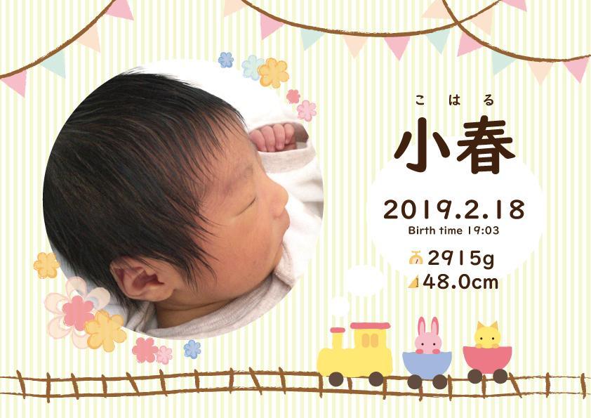 写真入り赤ちゃんポスターデータ作成します かわいい赤ちゃんのお誕生記念に!データでのお渡しで手軽です♪ イメージ1