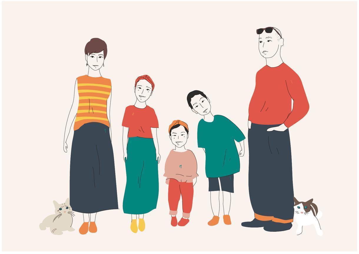 年賀状用にご家族の似顔絵を描きます 年賀状のデザインを迷ってる方へ