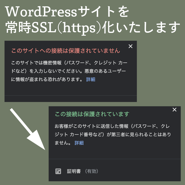 WordPressサイトを常時SSL化します お持ちのサイトを格安で常時SSL(https)化いたします イメージ1