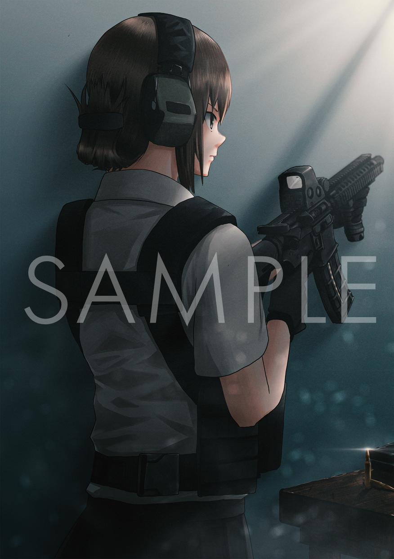 高クオリティな1枚絵制作します 銃の絵を描いてほしい方一見の価値あり!銃以外もお任せ下さい!