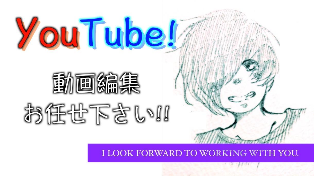 YouTube!!動画編集承ります 4000円(元素材20分以内であれば)で編集します! イメージ1