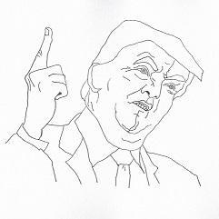 線画で似顔絵を描きます SNSのアイコン等でご活用頂けます。