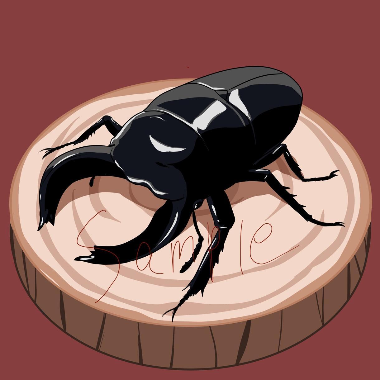 カッコいい、かわいい、綺麗な昆虫のイラスト描きます SNSアイコンやヘッダー、待ち受けなどにどうぞ!