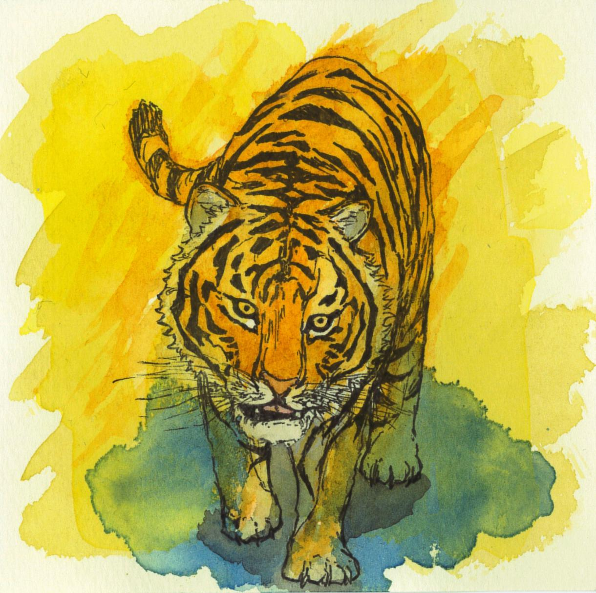 超攻撃的水彩画アイコン描きます 生物水彩画アイコン迅速提供大学生