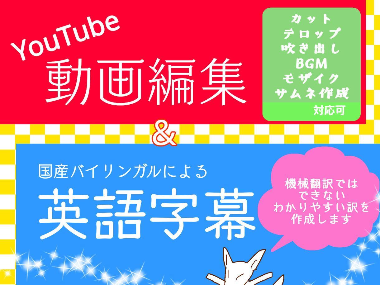 動画の編集と英語字幕つけます あなたのYouTube動画に英語字幕をつけませんか?