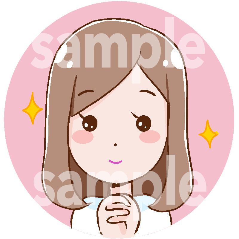 似顔絵アイコン描きます SNS、名刺などに使えるアイコンをプロの漫画家が作成 イメージ1