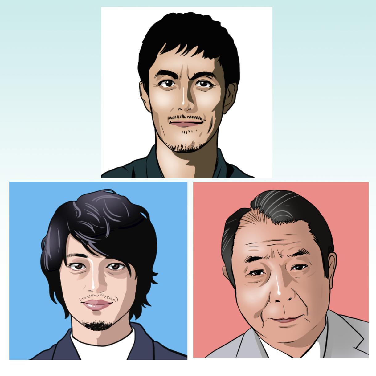 あなたのお写真通りに似顔絵をお描きします。