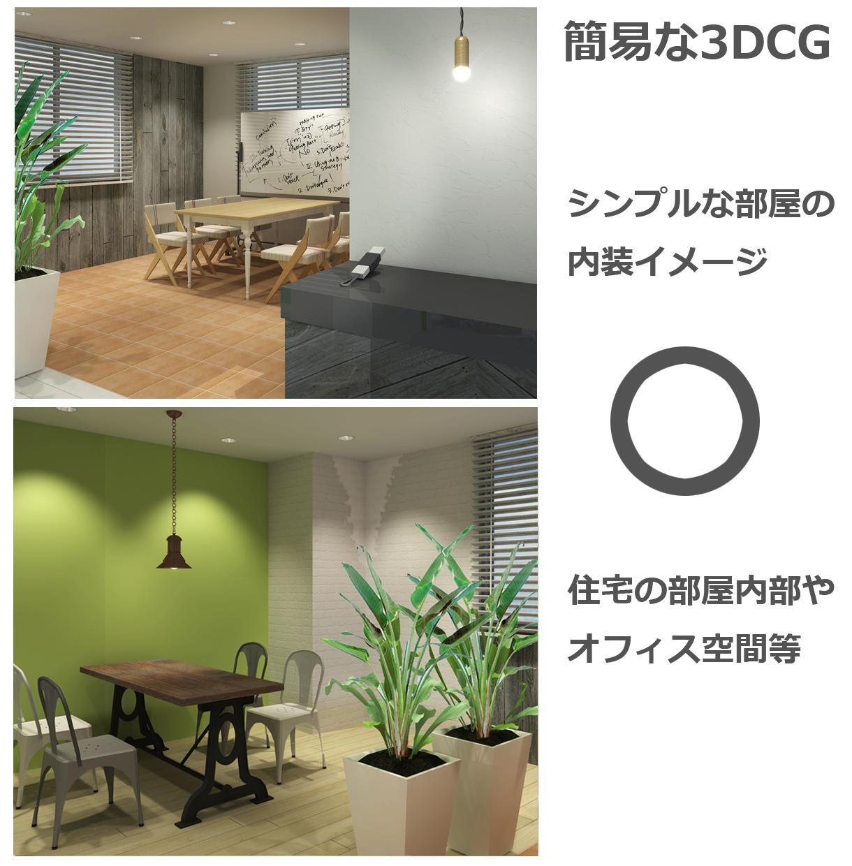 3DCG イメージ作成いたします インテリアイメージの事前検証やプレゼンの資料にどうぞ!