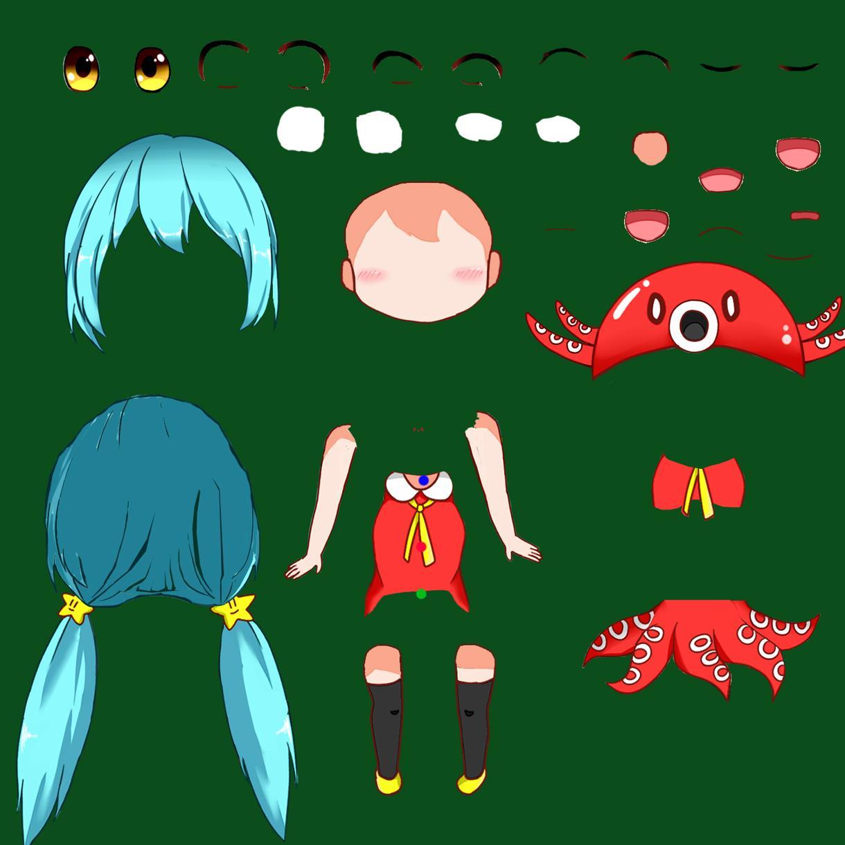 あなたの描いたキャラクターをアニメーションにします PV風に加工したり、ゲームの立ち絵などで使用出来ます
