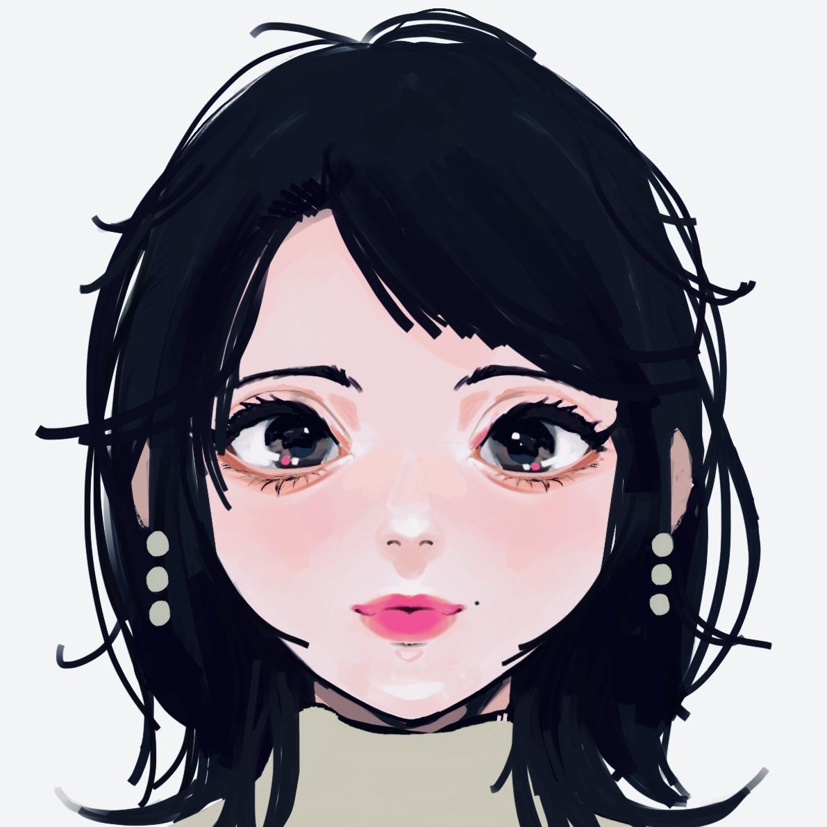 女の子のSNS向けのアイコンを描きます お洒落な女の子向けイラスト!お好みのメイクで仕上げます!