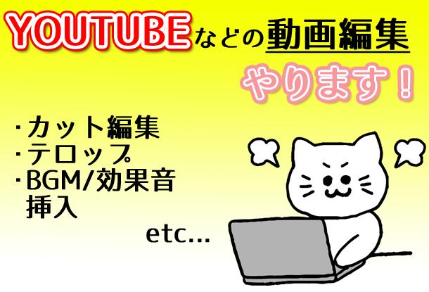 Youtube用動画編集代行いたします 軽快なテンポ・遊びの編集で視聴者様を飽きさせません!