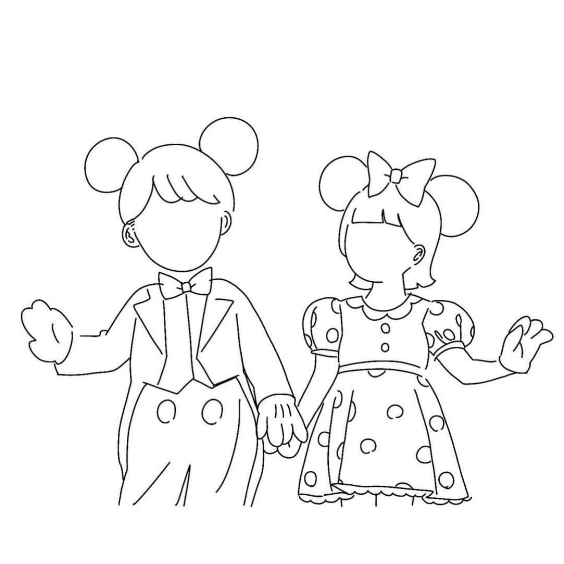 アイコン、イラスト描きます かわいいカップルの思い出に!!❤︎