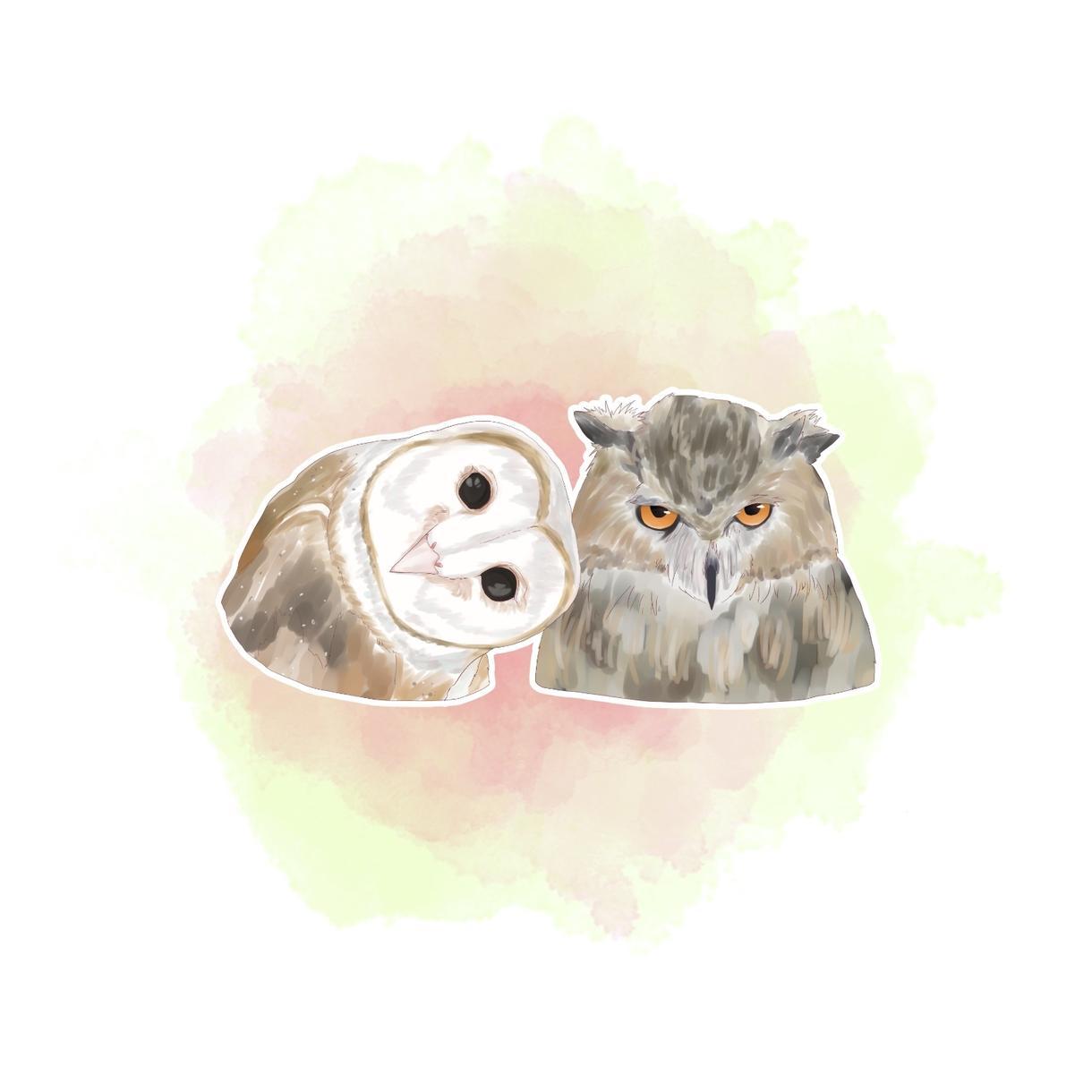 お好きな動物のちょっぴりオシャレなイラスト描きます SNSなどで使用するアイコンにいかが?✯