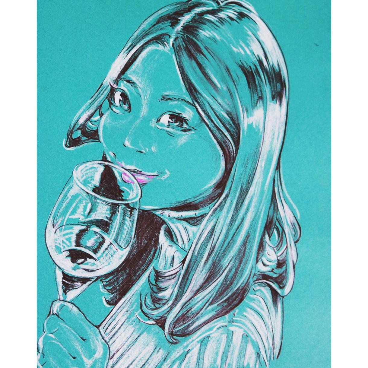 写真をお洒落な似顔絵に!アート風に仕上げます 大切な人への贈り物、SNSアイコン、名刺等に…