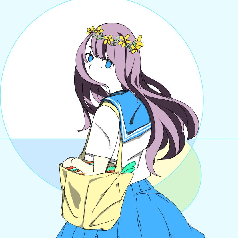 可愛いアイコン、プロフィール絵を描きます SNS映えするきれいな色使いで、可愛い女の子のイラストです。