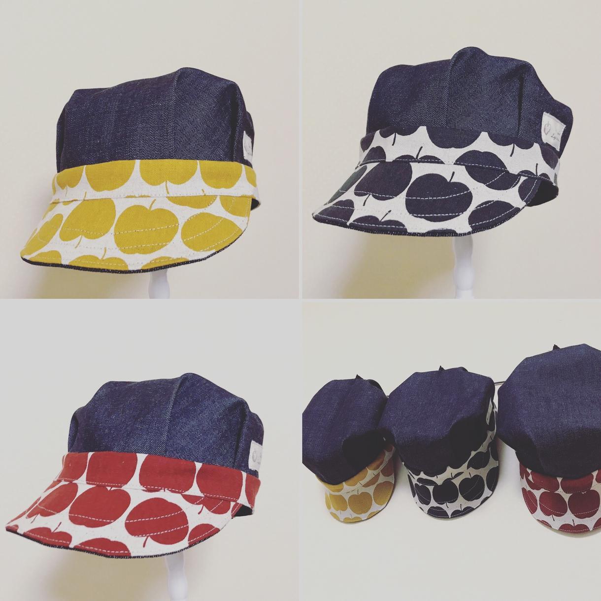 お好きな生地で帽子を作ります お好きな生地の柄でワークキャップを作ります。子供〜大人まで。