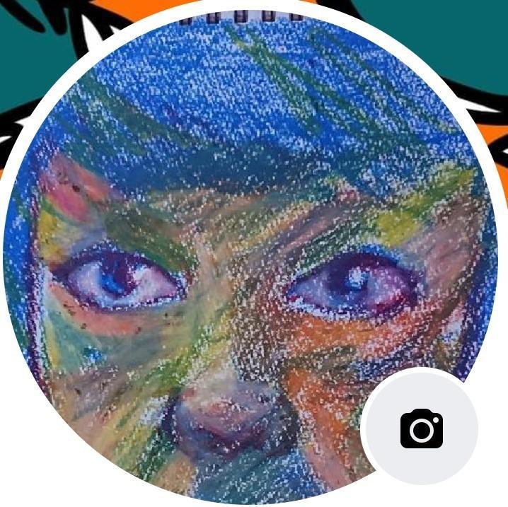 カラフルな似顔絵を描きます クレヨンを使ったカラフルな似顔絵を描きます。