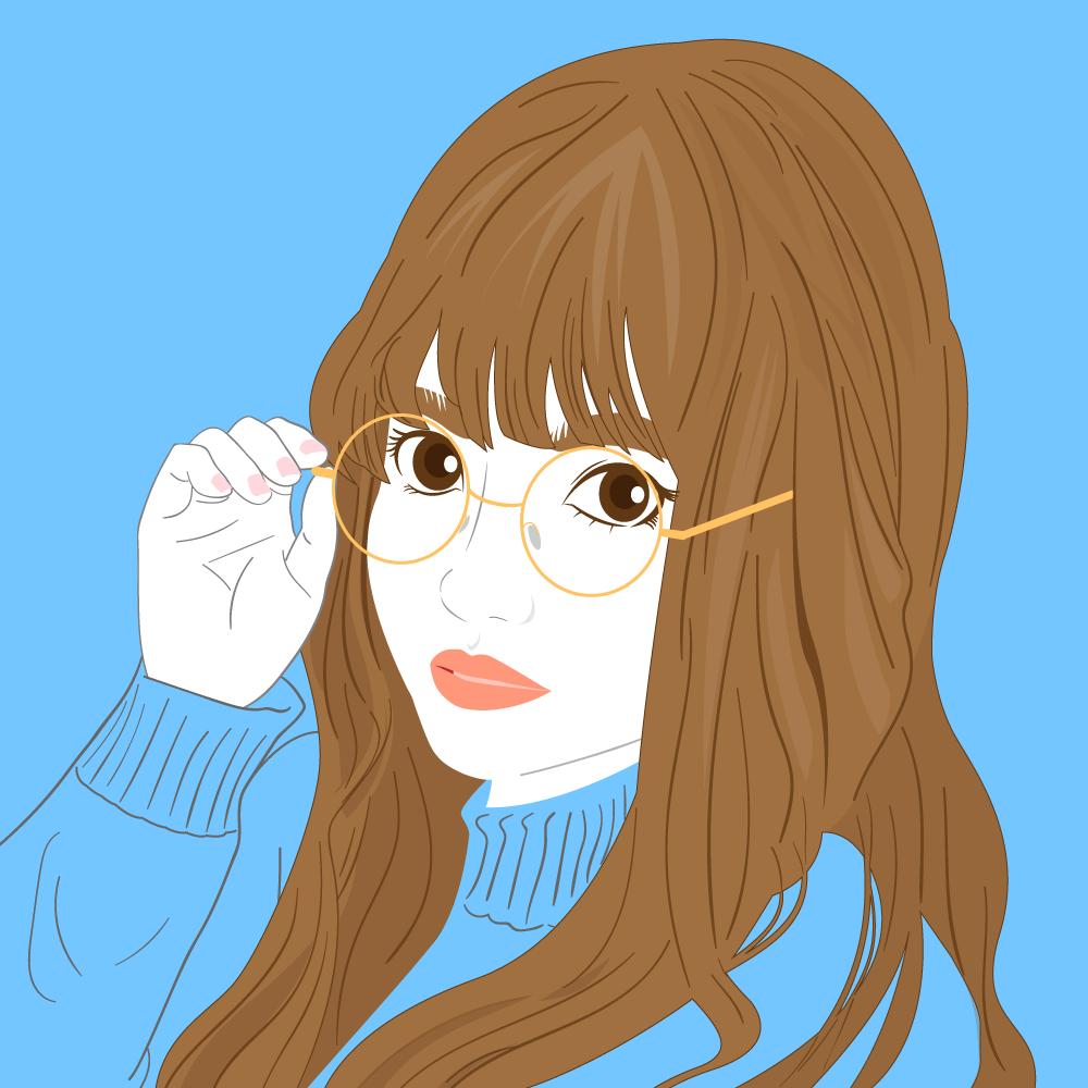 シンプルでスッキリした似顔絵を描きます ▶︎SNSアイコン▶名刺▶︎プレゼントなどに!