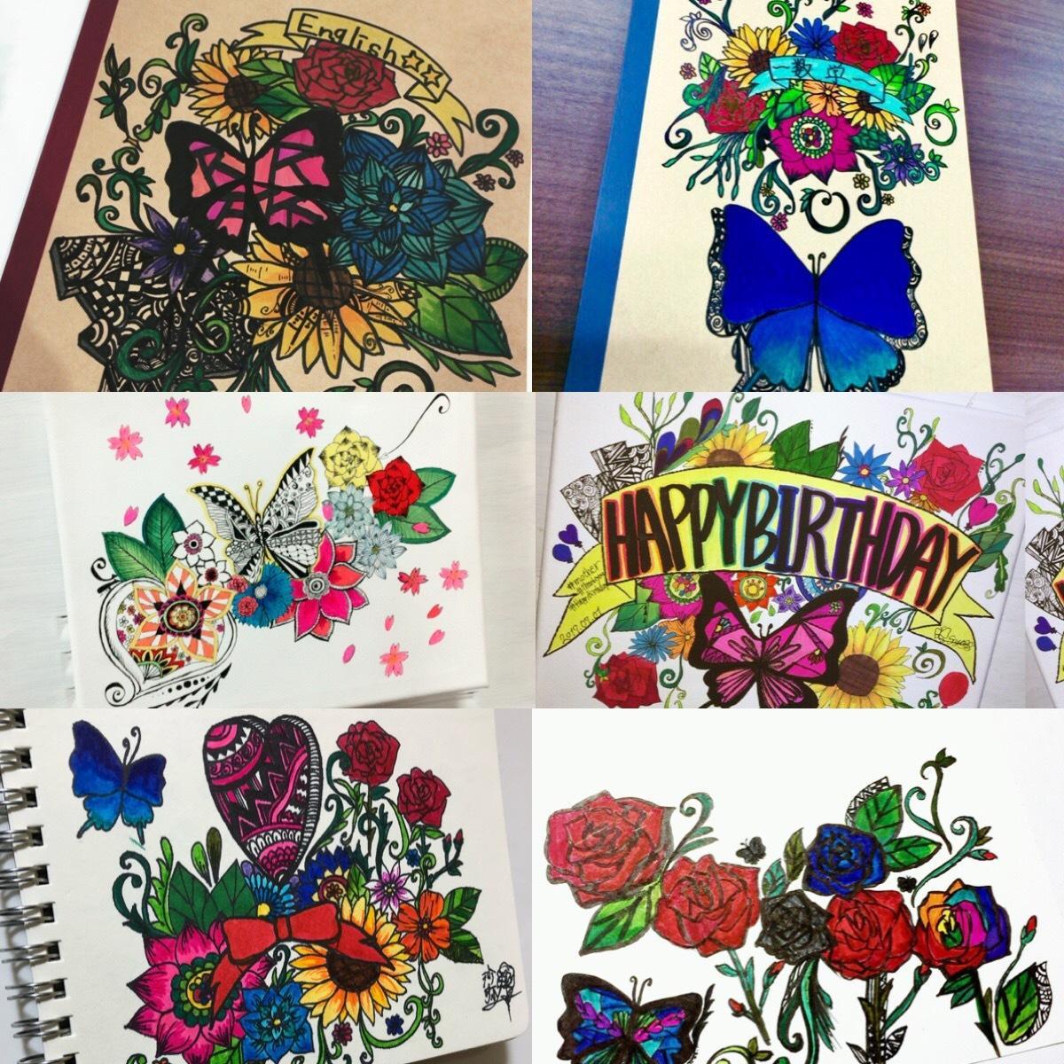 オリジナル花の絵描きます 良かったらgetしてくださいね