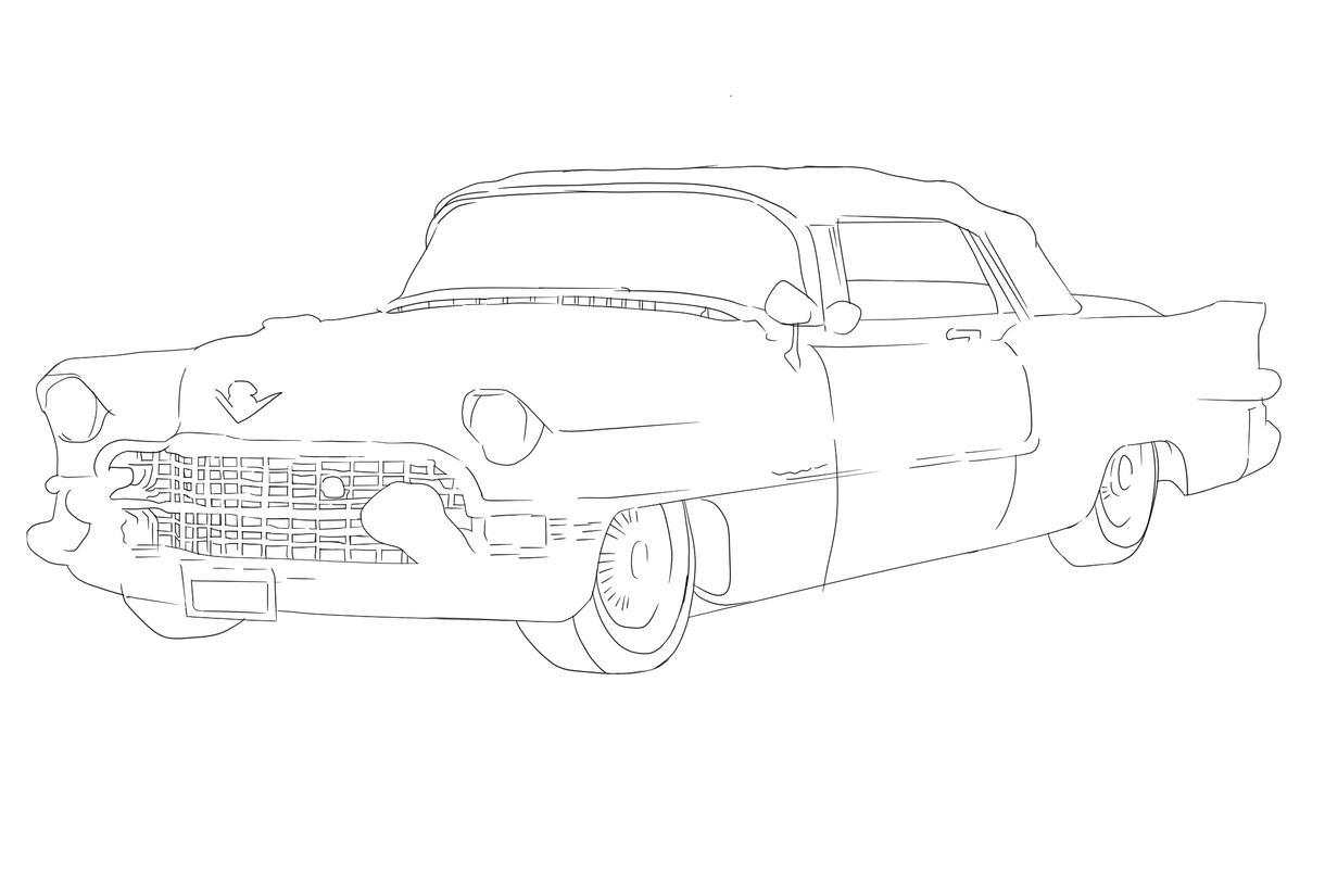 車のイラスト描きます あなたの愛車、車をデジタルペンでトレースします。