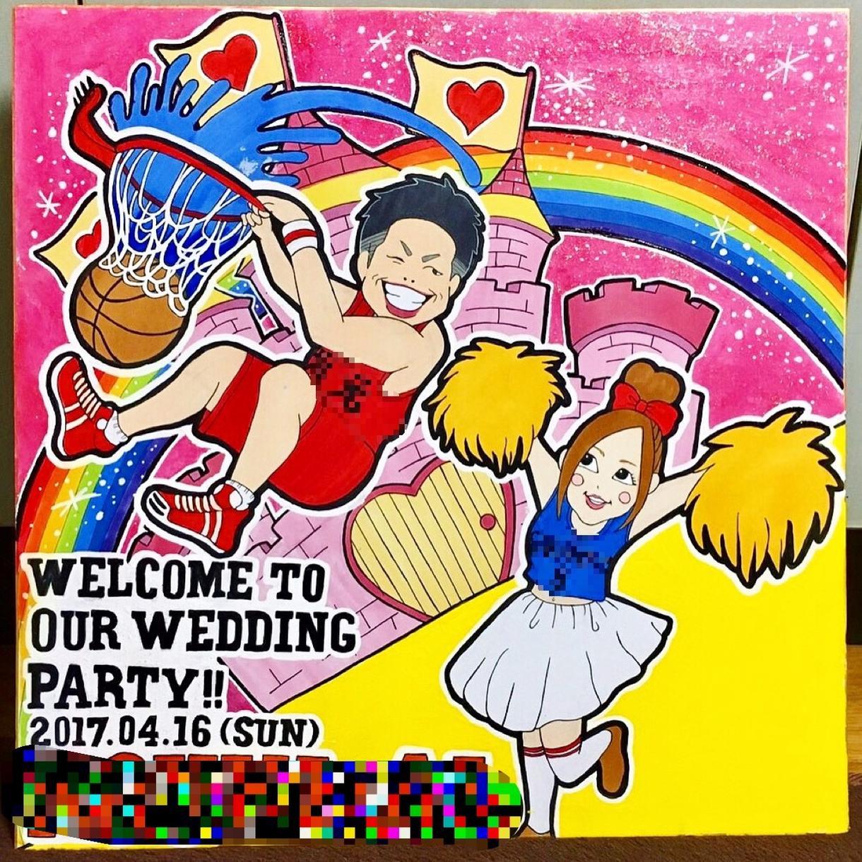 結婚式のウェルカムボード作成します 結婚式の会場に映える☆ポップで楽しいウェルカムボード☆