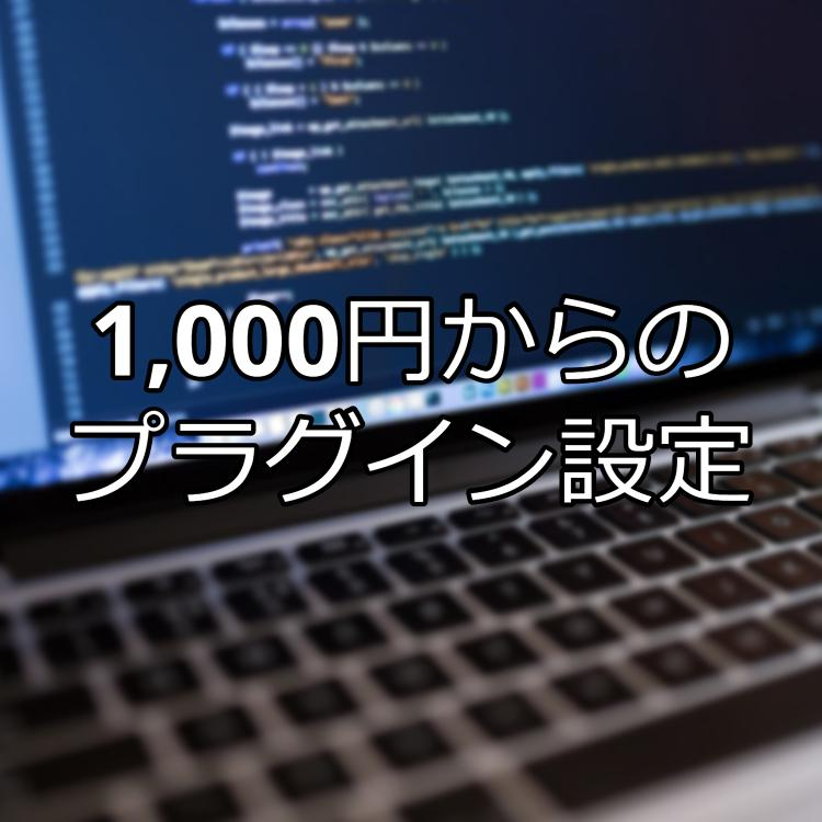 WordPressプラグインを検索・設定代行します 1000円からの設定代行、テーマにも対応しております