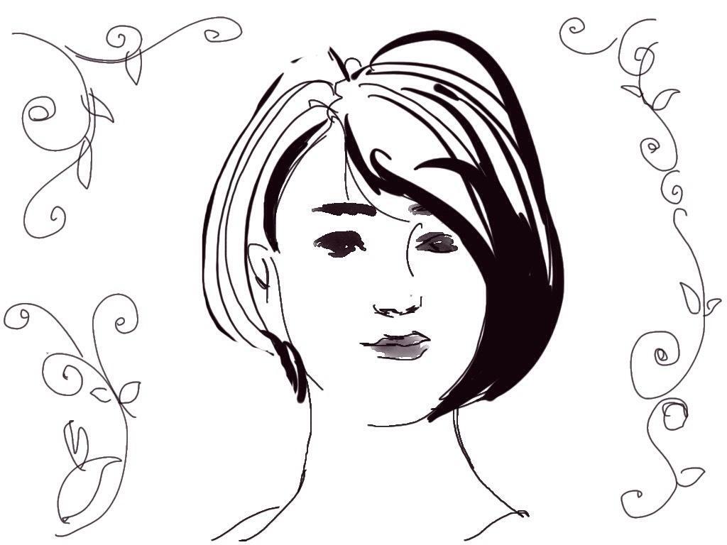 筆タッチのシンプルな似顔絵、アイコンを描きます 。スタイリッシュなセンスある、おしゃれイラストタッチで。