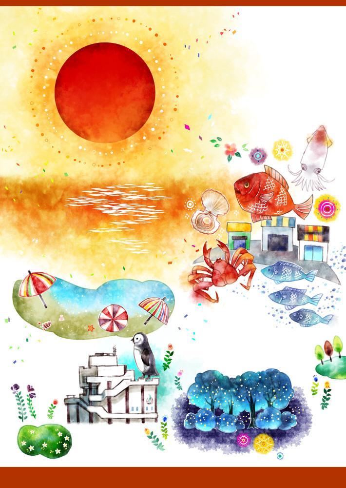 絵本風イラストお描きします 水彩風イラスト。挿絵、カット絵、1枚絵、SNSヘッダー等に