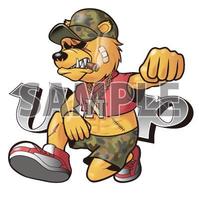 ストリート系の動物・骸骨などのキャラクター描きます オリジナルキャラクターや、Tシャツ、ステッカーなどに!