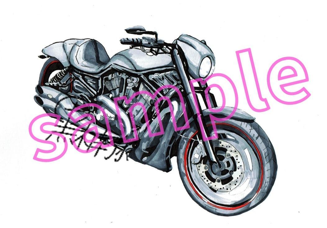 バイクをお描きします あなたの愛車(バイク)をイラスト(模写)に致します