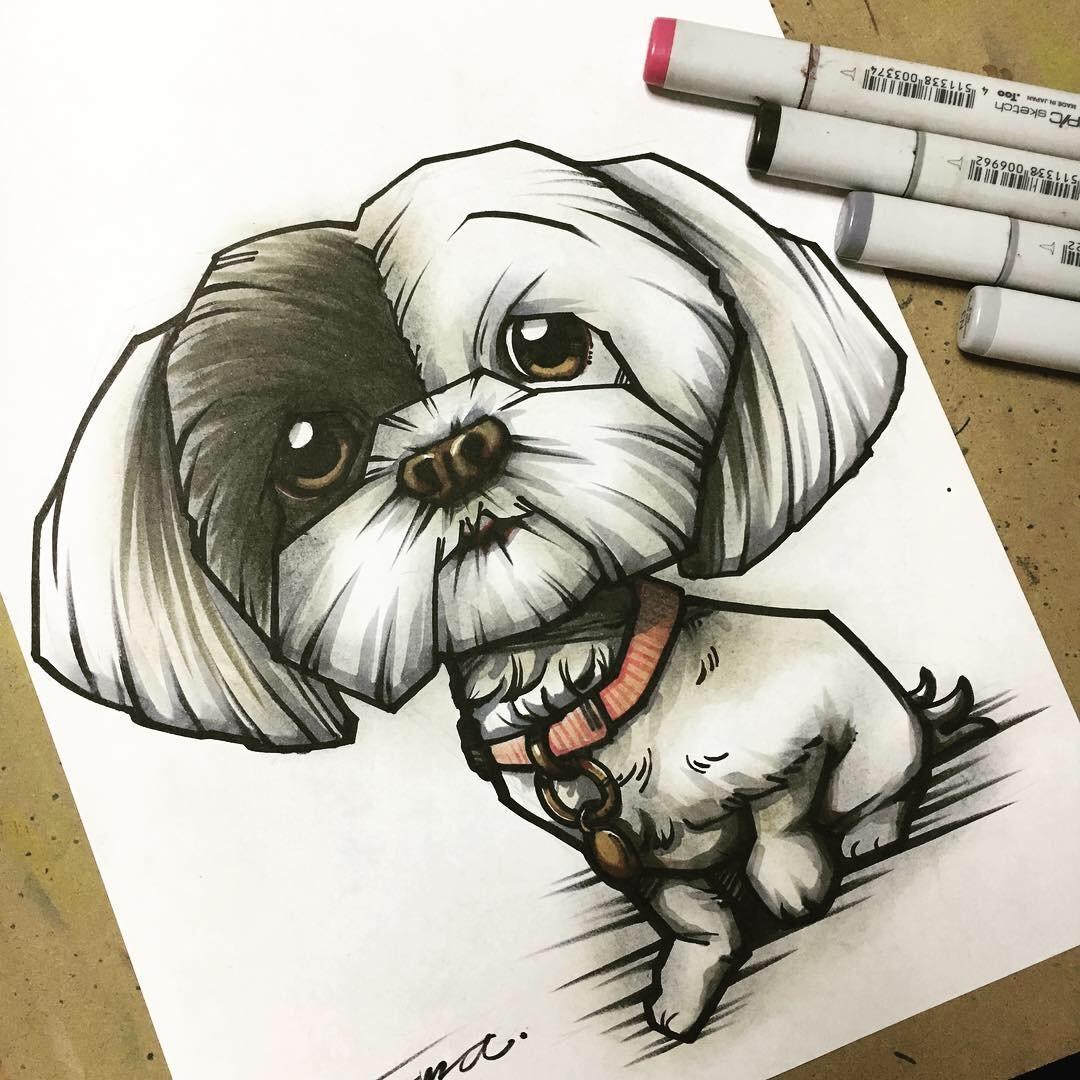 あなたのペットを手描きのイラストで描きます 味と深みのあるキャラクタライズテイストをどうぞ。