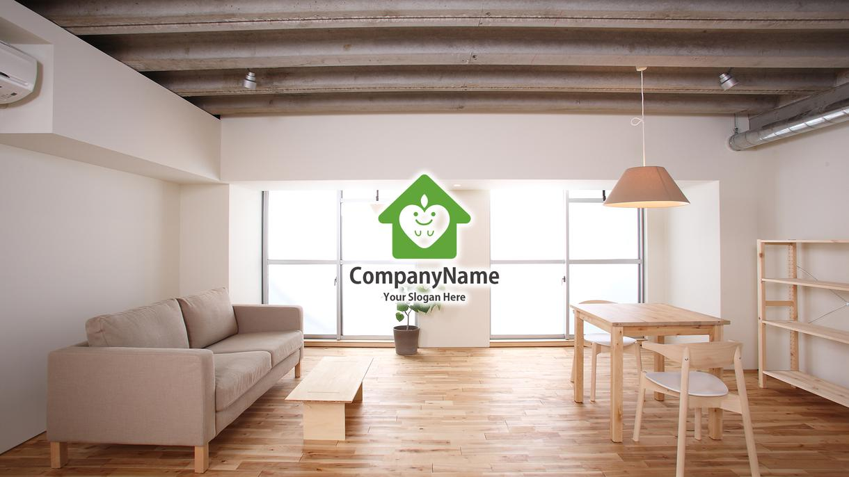 会社ロゴ入りデスクトップ壁紙制作致します 企業、チーム、グループの壁紙など承ります。