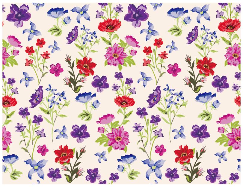 コレクション経験◎美しい花柄をデザインします オリジナルの花柄パターンを作りたい企業・個人様向けのサービス