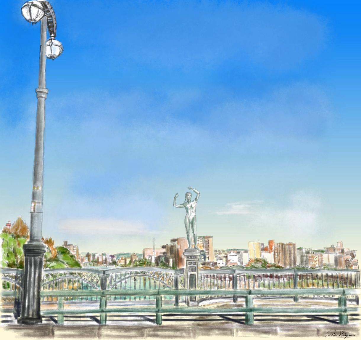 好きな風景をパソコン水彩画で描きます 旅行先の想いでの風景やいつも見る風景を絵葉書にしませんか イメージ1