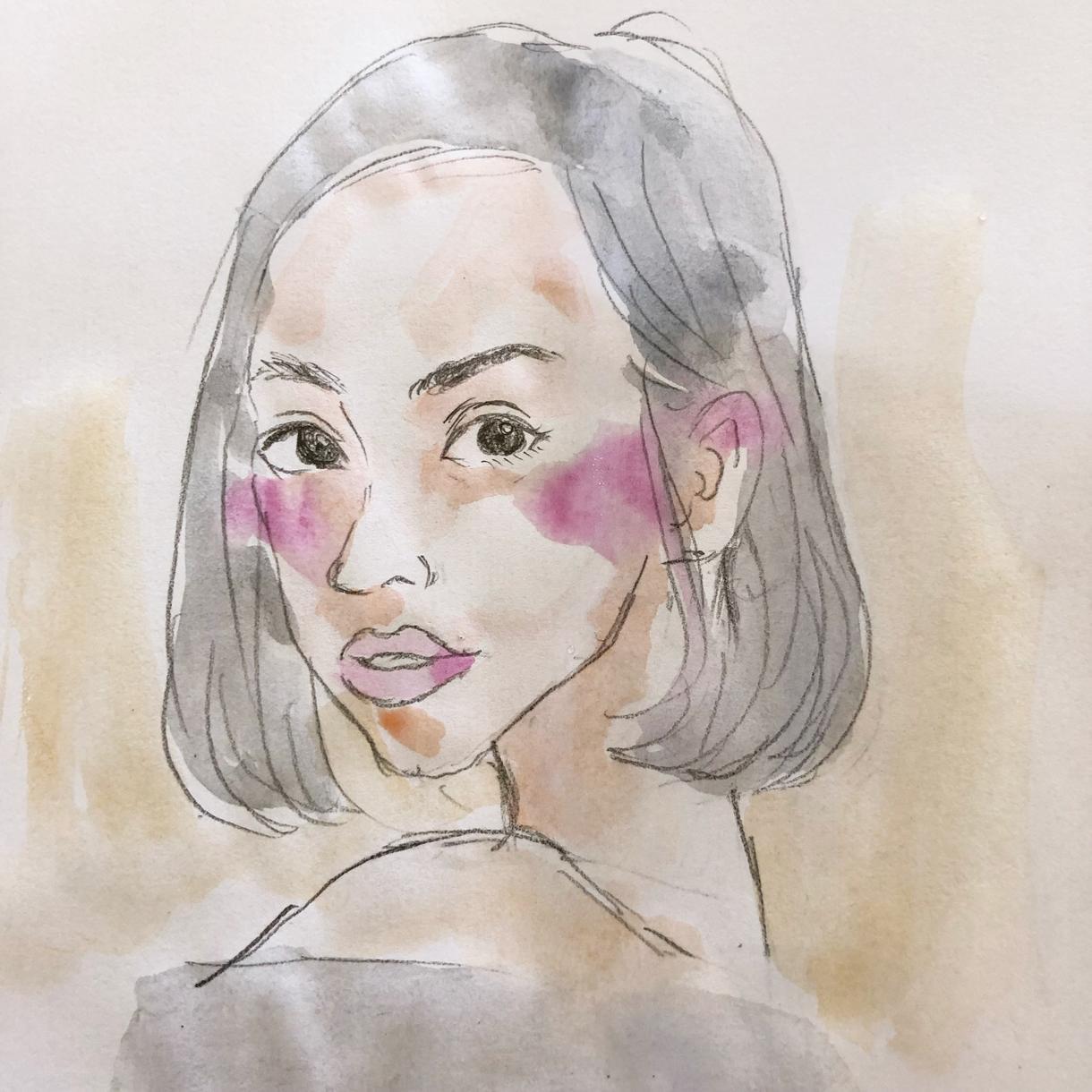 水彩画の似顔絵描きます アイコンなどに最適です!優しい雰囲気で描きます!