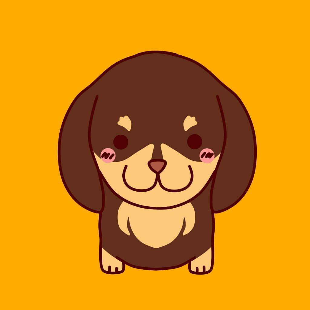 可愛い犬のアイコンを作成いたします SNSなどに可愛い犬のアイコンを!