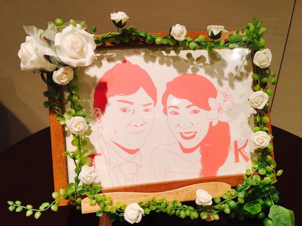 結婚式のウェルカムボードお描きします ~等身大のきれいめシンプルな絵柄~